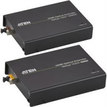 ATEN HDMI Extender Over Fiber Cable, Up To 600m, 1080p, 3D, HDCP, HDMI 19-pin Ho, RS-232, LC Simplex, Black VE882-AT-G / VE882