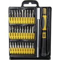 Precision bit kit with one handle, bit holder and 30 bits DELTACOIMP orange / black  / VK-249