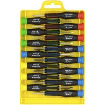 Precision chisel kit, 15 chisels, grooves / philips / torx / hex DELTACOIMP / VK-250