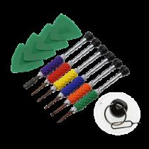 Smartphone Repair Kit, 12 pc, Precision CRV DELTACOIMP yellow / VK-54