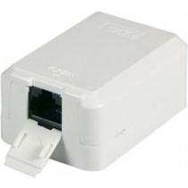 Wall socket Cat6, Surface UTP, 1xRJ45  Cat.6 Keystone Jack DELTACO / VR-20