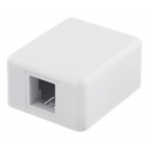 DELTACO Surface wall outlet for Keystone, 1 port, white / VR-222