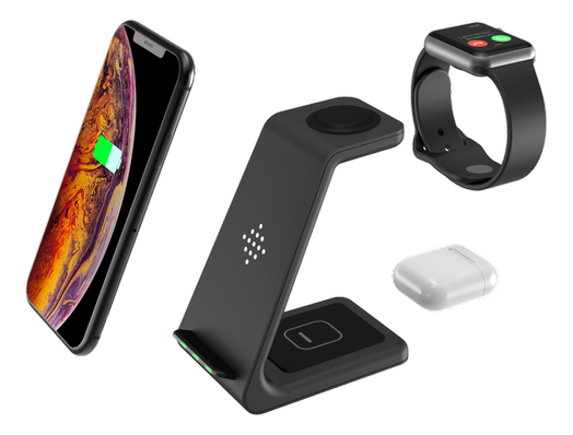 GADGETMONSTER Wireless Charger 3-in-1, charge your iPhone / iWatch / Airpods at the same time / GDM-1005