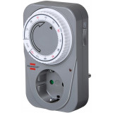 Timer for grounded outlet Brennenstuhl 2 h, 230V, gray/white / GT-523