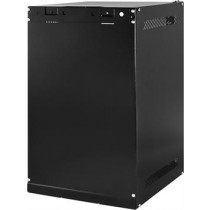"TOTEN 10 ""wall cabinets, supplied unassembled , 9U, 280x310, glass door, black, WS.3309.9001 / 10-3309"