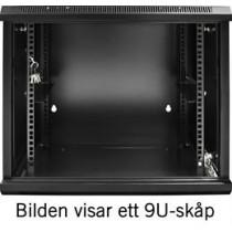 Wall cabinet TOTEN 19, 15U, 600x600, black / 19-6615