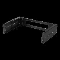 """DELTACO 19 """"wall mount with adjustable depth, 2U, 15kg load, steel, mounting kit, black / 19-DTSR0202"""