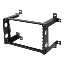 "DELTACO 19 ""wall mount, 6U, 35kg load, steel, mounting kit, black / 19-DTSR0506"