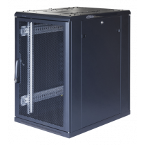 "TOTEN System G, 19"" cabinet, 18U, 600x1000, perforated front door, 800kg/ 19-G6018PP Black  G3.6018.9801"