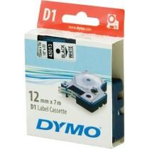 Tape DYMO D1 12mm x 7m, vinyl, black on white / S0720530 45013