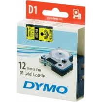 Tape DYMO D1 12mm x 7m, vinyl, black on yellow / S0720580 45018