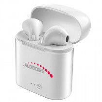 Audiocore AC515 Mini Bluetooth TWS 5.0 earphones, Power Bank, Docking Station White 62465