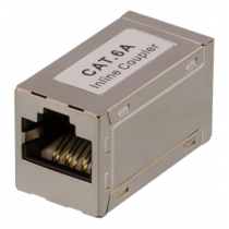 Coupler CAT6a, FTP (shielded), female-female DELTACO silver / 685-F
