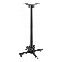 Projector mount DELTACO OFFICE for flat/inclined ceilings, tilt, swivel, rotate, 35 kg, black / ARM-0411