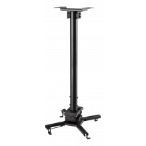 Projector mount DELTACO OFFICE for flat/inclined ceilings, tilt, swivel rotate, 35 kg, black / ARM-0412