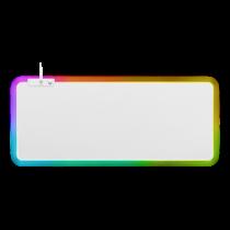 Mousepad DELTACO GAMING WHITE LINE RGB mousepad, 900x360x4mm, 13 LED modes, white / GAM-079-W