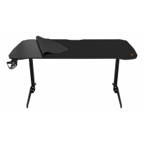 Table DELTACO GAMING DT320 metal legs, height adjustable, built-in mouse pad, black / GAM-095V2