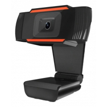 1080p webcam, USB, CMOS, built-in microphone, black  GH-001