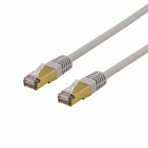 Cable DELTACO S/FTP Cat6a patch, Delta-certified, LSZH, 2m, gray / SFTP-62AH