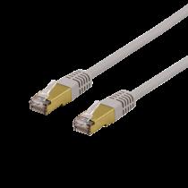 Cable DELTACO S / FTP Cat6a, delta certified, LSZH, 3m, grey / SFTP-63AH