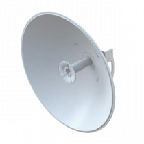 Antenna Ubiquiti airFiber satellite dish, 30 dBi, outdoors, mounted on a pole / UBI-AF-5G30-S45