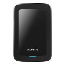 ADATA 1TB External Hard Drive, 10.3mm, USB 3.1, Quick Start, Black AHV300-1TU31-CBK / ADATA-428