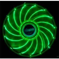 Akasa Vegas LED chassis fan, 120x120x25mm, 1200 RPM, 3-pin, 23.2 dBA, black / green / AK-FN091-GN