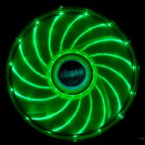Akasa Vegas LED chassis fan, 120x120x25mm, 1200 RPM, 3-pin, 23.2 dBA, black / green / AK-FN091-GN