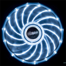 Akasa Vegas LED chassis fan, 120x120x25mm, 1200 RPM, 3-pin, 23.2 dBA, black / white / AK-FN091-WH
