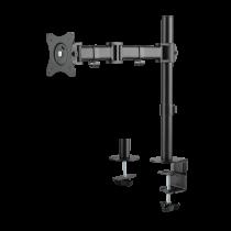 "DELTACO OFFICE Desk mount for 1x monitor, tilt, turn, rotate, 13 ""-27"", VESA, black ARM-0303"