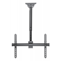 """DELTACO OFFICE Telescopic fully articulating ceiling mount for LED / LCD, 37-70 """", 560 - 910 mm, black/ ARM-0400"""