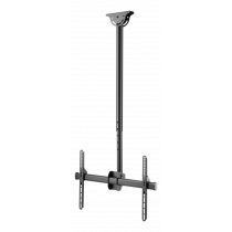 """DELTACO OFFICE Telescopic fully articulating ceiling mount for LED / LCD, 37-70 """", 1060 - 1560 mm, black ARM-0401"""
