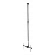 """DELTACO OFFICE Telescopic fully articulating ceiling mount for LED / LCD, 37-70 """", 2500 - 3000 mm, black ARM-0402"""