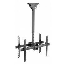 """DELTACO OFFICE Telescopic back-to-back ceiling mount for LED / LCD, 37-70 """", 560 - 910 mm, black  ARM-0403"""
