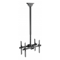 """DELTACO OFFICE Telescopic back-to-back ceiling mount for LED / LCD, 37-70 """", 1060 - 1560 mm, black  ARM-0404"""