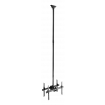 """DELTACO OFFICE Telescopic back-to-back ceiling mount for LED / LCD, 37-70 """", 2500 - 3000 mm, black  ARM-0405"""