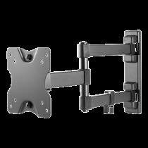 """DELTACO Fully articulated 3-way wall bracket, 13-27 """"up to 20 kg, tilt, turn, level adjust, VESA, black  ARM-1204"""