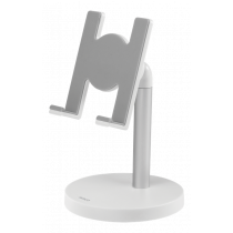 "DELTACO Desktop Stand for Smartphone; Tablet, Fits ""4.3"" to 8 "" white ARM-275"