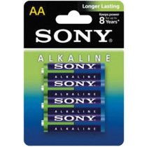 Batteries SONY AA-cell (LR06), 1,5Volt 4-pack / BAT-116