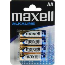 Batteries Maxell AA (LR06), Alkaline, 1,5V, 4-pack / BAT-522
