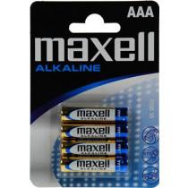 Batteries Maxell AAA (LR03), Alkaline, 1,5V, 4-pack / BAT-523