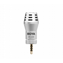 Rounded Microphone BOYA for iPhone / iPad / iPad, silver / BYA100 / BOYA10009