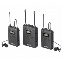 Microphone system BOYA wireless, dual-channel UHF, black / BY-WM8 / BOYA10019