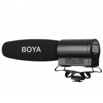 Microphone BOYA with integrated microSDHC slot, black / BY-DMR7 / BOYA10034