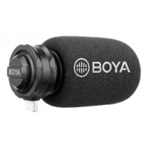USB-C digital stereo microphone, cardioid, black / gray BOYA BY-DM100 / BOYA10077