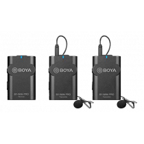 Boya BY-WM4 Pro K2 Wireless Mircrophone System, Omnidirectional Lavalier Microphone, Black BOYA10086