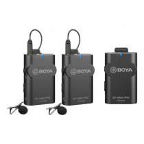 BOYA BY-WM4 Pro Dual Channel Digital Wireless Microphone, Black / BOYA10093