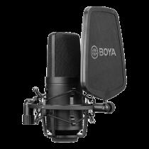 BOYA BY-M800 cardioid condenser microphone, 2V or 48V Phantom power, XLR, black BOYA10108