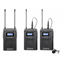 BOYA BY-WM8 Pro-K2 UHF Wireless Dual Channel Microphone System, Black BOYA10116