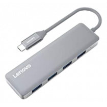 Adapter Lenovo USB-C hub, 4xUSB-A, gray/C612